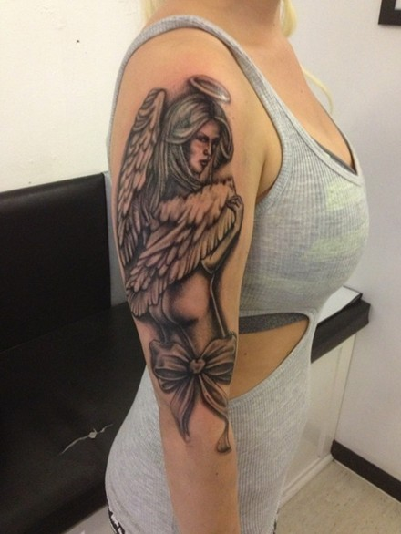 30 Tattoos Images: Angel Tattoo on Arm
