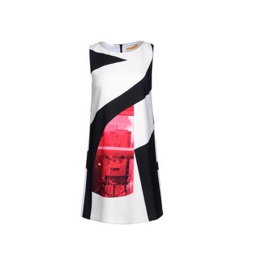 ALICE+OLIVIA Short dress, Multicolor Pattern, Round CollarALICE+OLIVIA Short dress, Multicolor Pattern, Round Collar