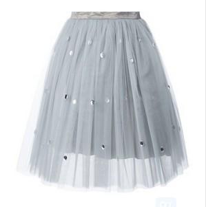 AU JOUR LE JOUR sheer A-line tulle skirt