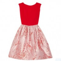 Alice + Olivia Kirie silk and metallicjarcquard dress, red, Evening and party dress