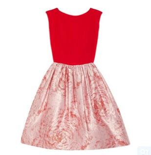 Alice + Olivia Kirie silk and metallicjarcquard dress, red, Evening and party dress