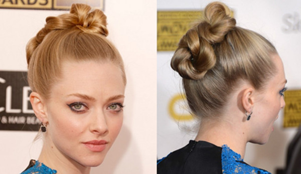 Amanda Seyfried Hairstyles: Fascinating Twisted Bun