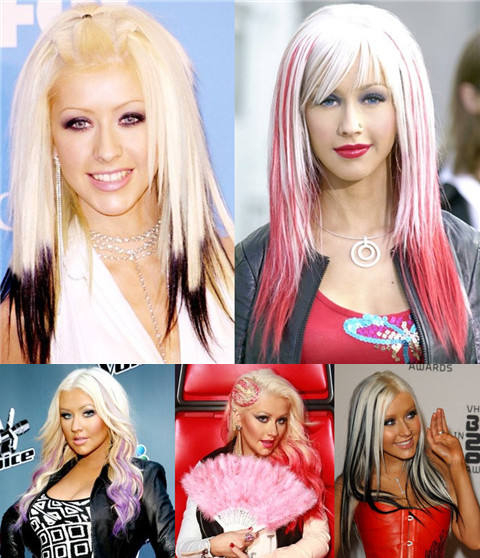 Christina Aguilera Hairstyles: Amazing Ombre Hairstyles