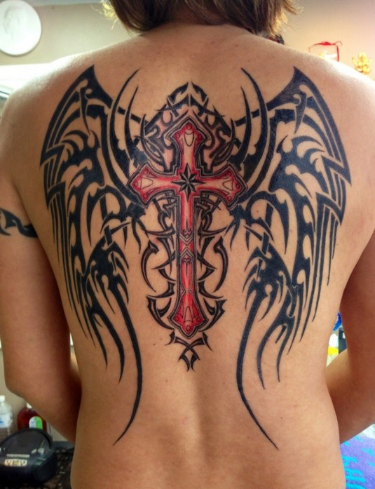 Angel Tattoos Designs: Wing Tattoos on Back