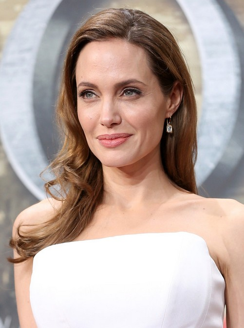 Angelina Jolie Long Hair style: 2014 Curly Hair