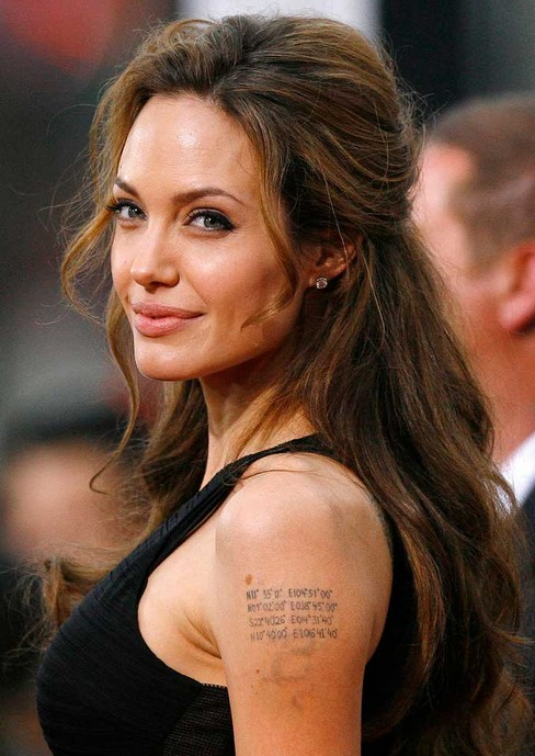 Angelina Jolie Long Hairstyle: Half Up Half Down for Thick Hair