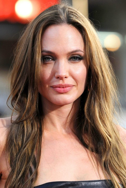 Angelina Jolie Long Hairstyle: Honey-blonde Layered Haircut