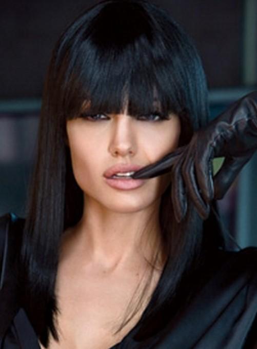 Angelina Jolie Long Hairstyle: Raven Hair