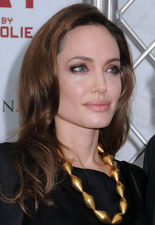 Angelina Jolie Long Hairstyle: Romantic Waves