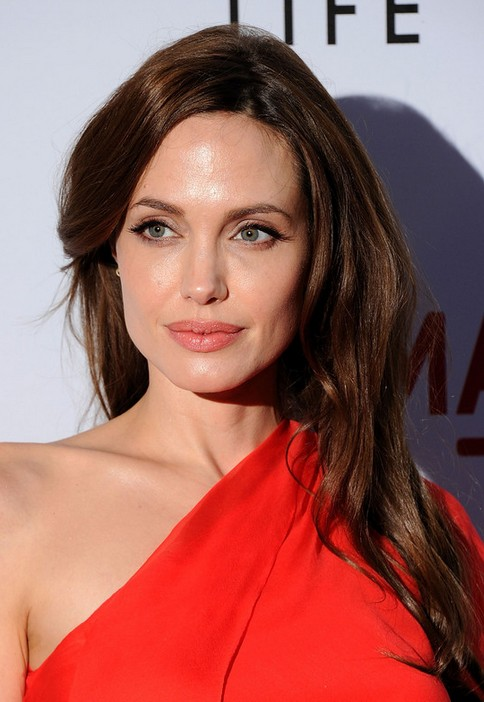 Angelina Jolie Long Hairstyle: Subtle Waves