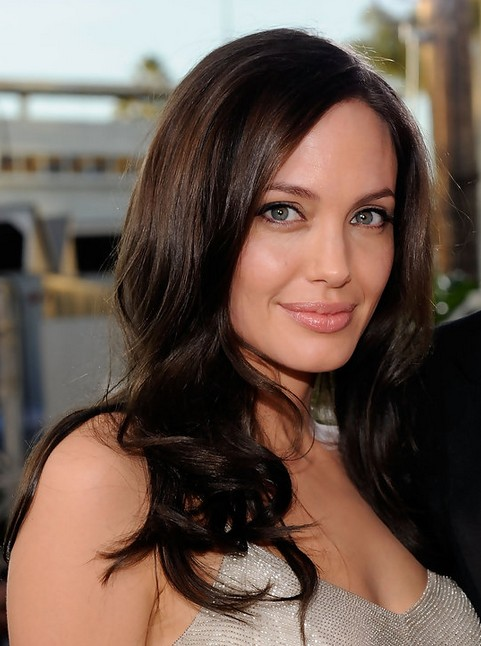 Angelina Jolie Long Hairstyle: Tousled Curls
