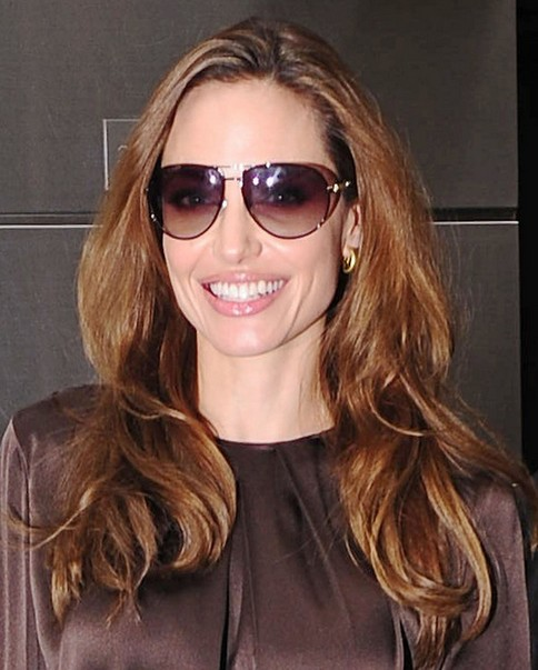Angelina Jolie Long Hairstyle: Wavy Brown Haircut