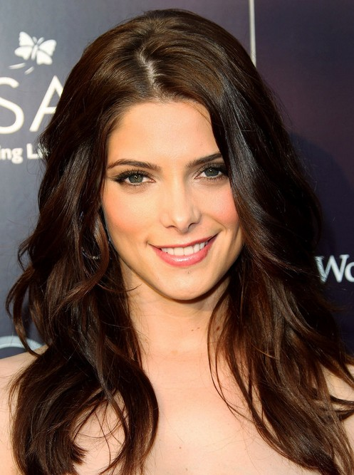 Ashley Greene Long Hairstyle Deep Side Part