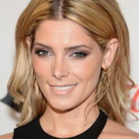 Ashley Greene Medium Hair style: 2014 Center Part