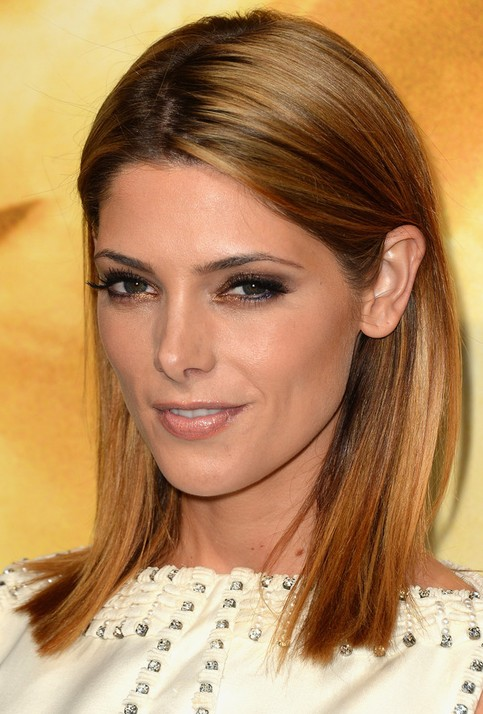 ashley greene medium length hairstyles 2014 straight hair