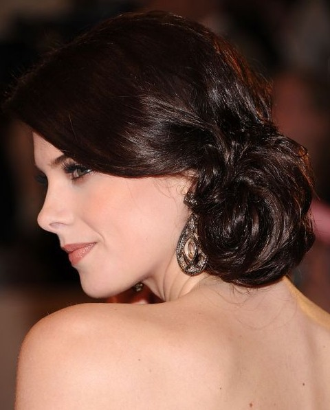 lucille ball hairstyle : Ashley Greene Updo Hairstyle: Low Bun - Pretty Designs