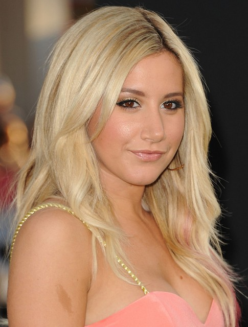 Ashley Tisdale Long Hairstyle: Blonde Layered Cut