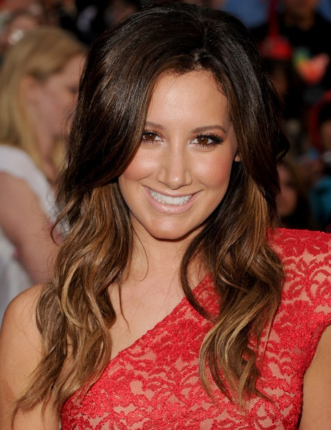 Ashley Tisdale Long Hairstyle: Bronzed Curls