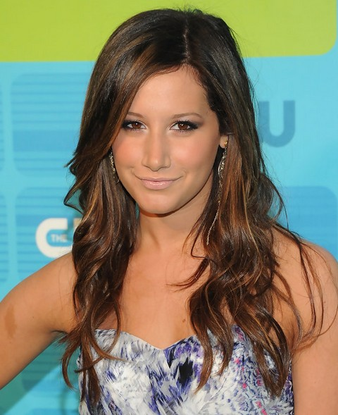 Ashley Tisdale Long Hairstyle: Curls for Oval Face