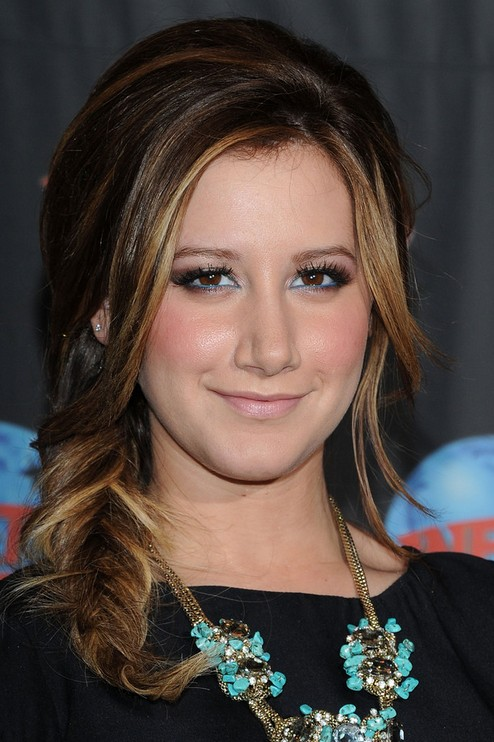 Ashley Tisdale Long Hairstyle: Fishtail Braid