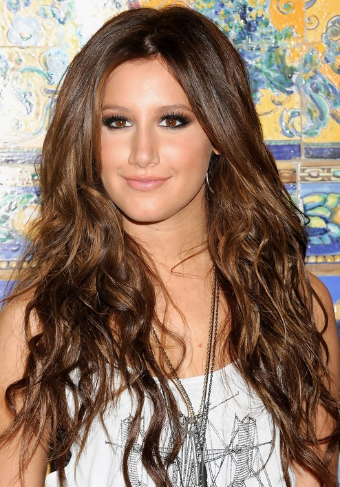 Ashley Tisdale Long Hairstyle: Luxurious Ringlets
