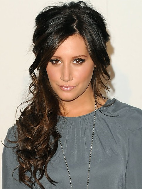 Ashley Tisdale Long Hairstyle: Raven Curls
