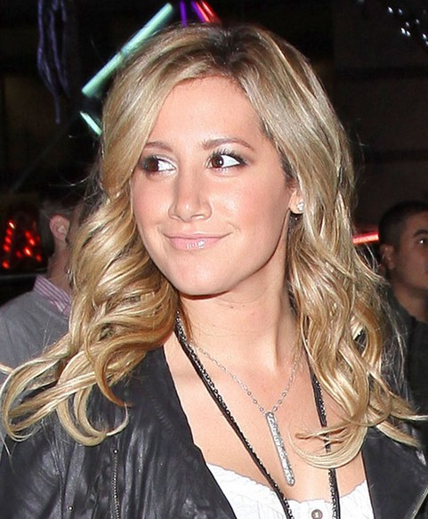 Ashley Tisdale Long Hairstyle: Shiny Curls