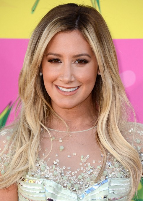 Ashley Tisdale Long Hairstyle: Two-tone Waves