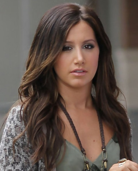 Ashley Tisdale Long Hairstyle: Wavy Hair for Holiday