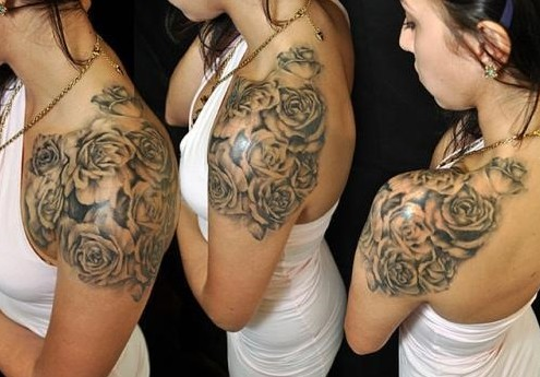 Shoulder Tattoos For Black Women