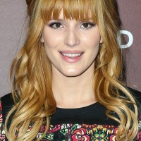 Bella Thorne Long Hair style: 2014 Blonde Hair with Half Up Half Down
