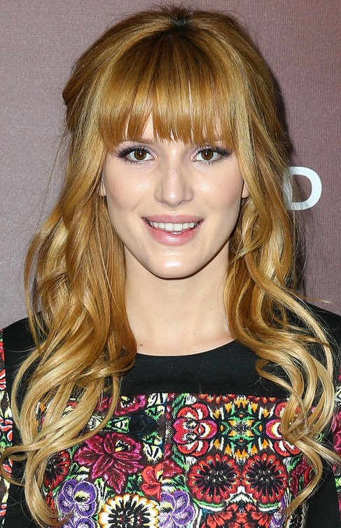 Concealer Creasing: Bella Thorne Long Hair Style: 2014 Blonde Hair With Half