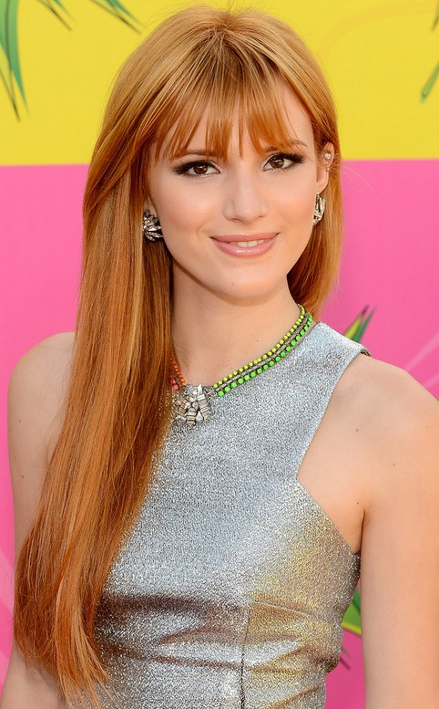 ... Long Hairstyle: Strawberry-blonde Hair with Bangs | Pretty Designs