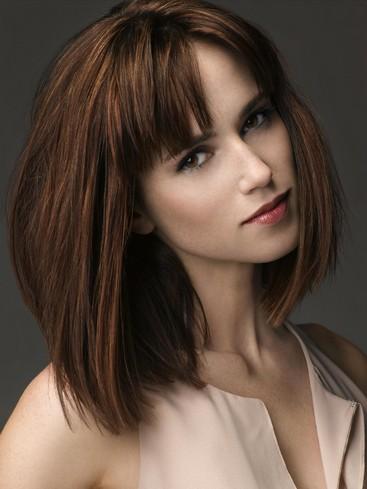 Marvelous Fabulous Straight Blunt Bangs Hairstyles Pretty Designs Hairstyles For Women Draintrainus