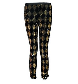 Boohoo Saskiah Harlequin Sequinned Legging, Patterned