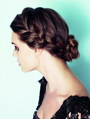 Braided Hairstyles for 2014 - Braided Crown and Bun