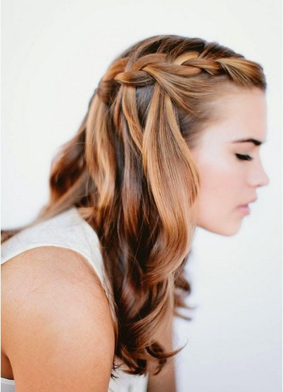 Braided Hairstyles for 2014 - Waterfall Braid for Ombre Hair
