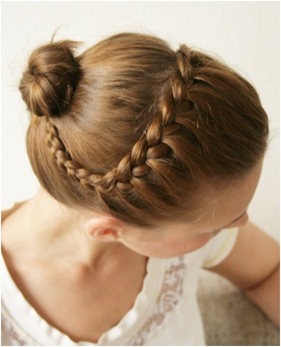 Simple Hairstyles For Long Hair Braids Bun Cute Braided Bun Hairstyle For