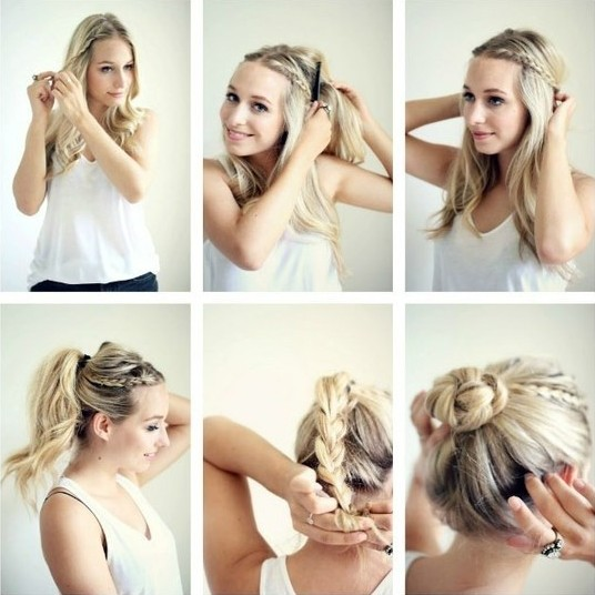 Braided Updo Hairstyles Tutorials: Cute Easy Bun Updos for Girls