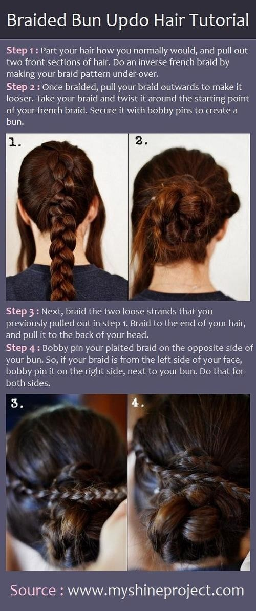 Braided Updo Hairstyles Tutorials: Cute Prom Updos