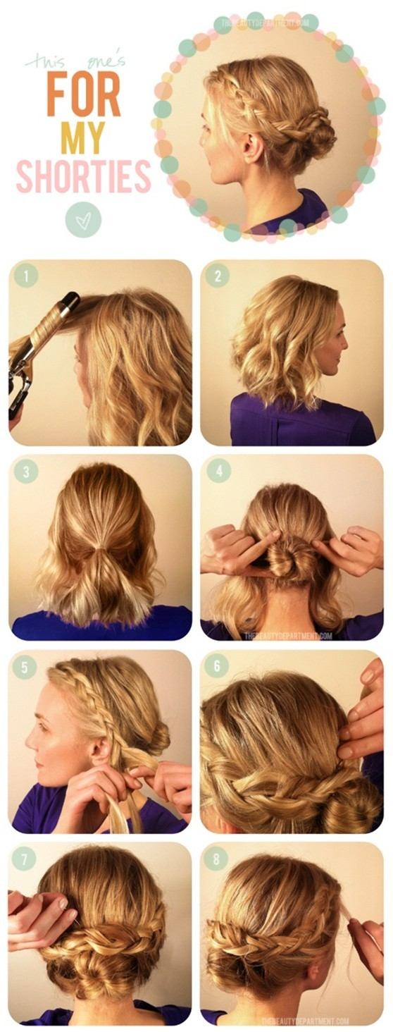 Braided Updo Hairstyles Tutorials: Easy Updos for Medium Hair