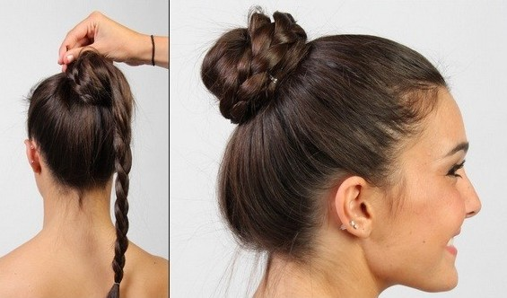 Braided Updo Hairstyles Tutorials: The Double Braid Bun Hairstyle