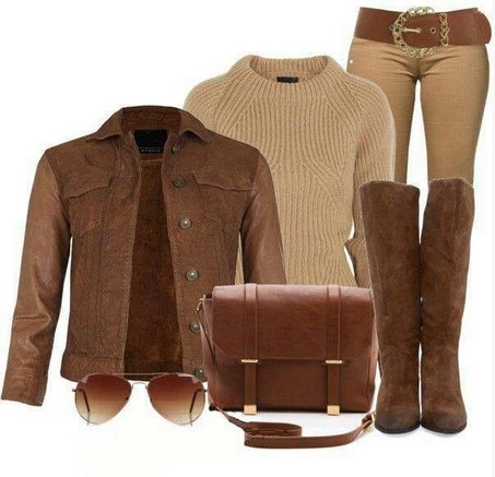 A Classic Collection Of Brown Outfit Looks For Women 2014