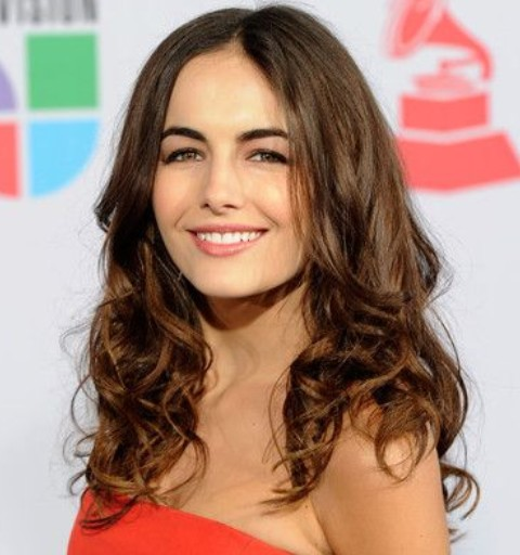 Camilla Bella Hairstyles: Center-parted Long Curls