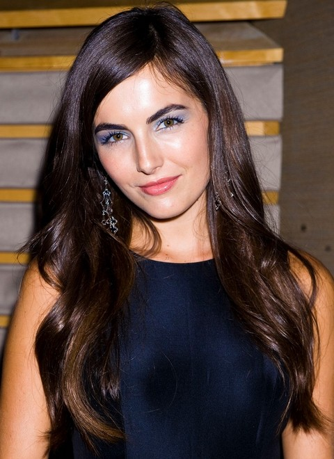Camilla Bella Hairstyles: Pretty Side-parted Straight Haircut