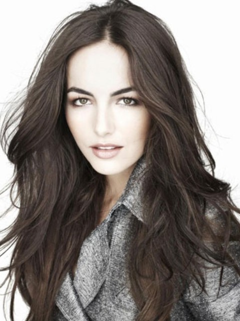 Camilla Bella Hairstyles: Stylish Center-parted Straight Hairstyle