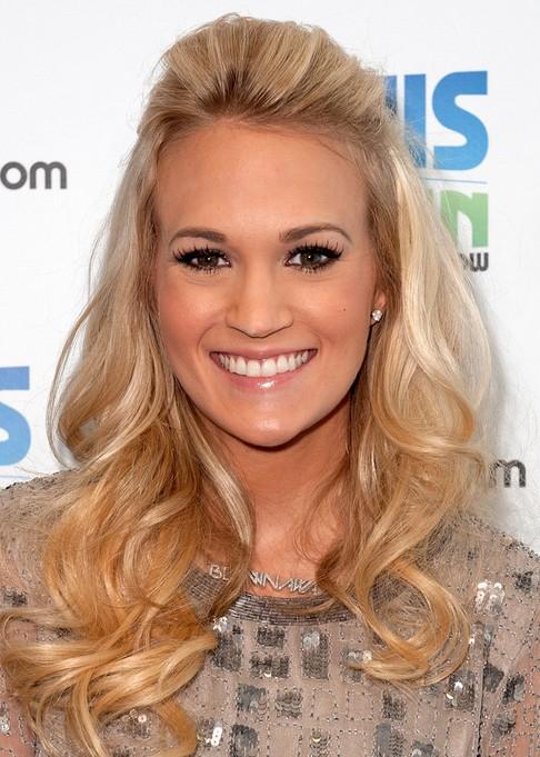Carrie Underwood Long Hairstyle: Beehive Bangs