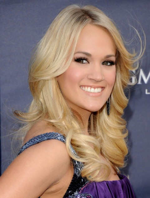 Carrie Underwood Long Hairstyle: Featured Bangs