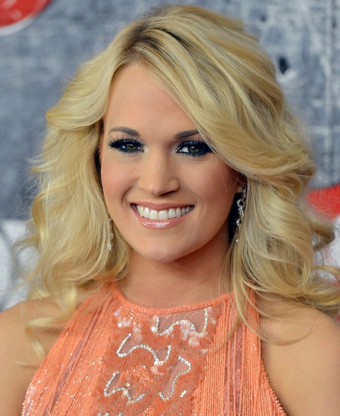 Carrie Underwood Long Hairstyle: Layered Curls