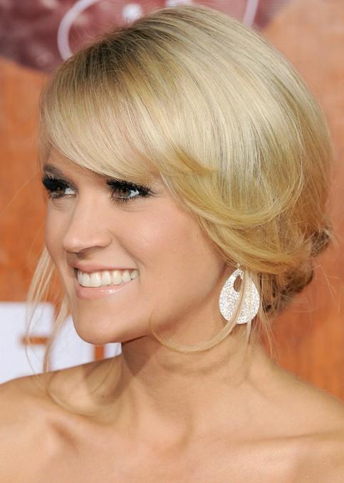 Carrie Underwood Long Hairstyle: Loose Bun